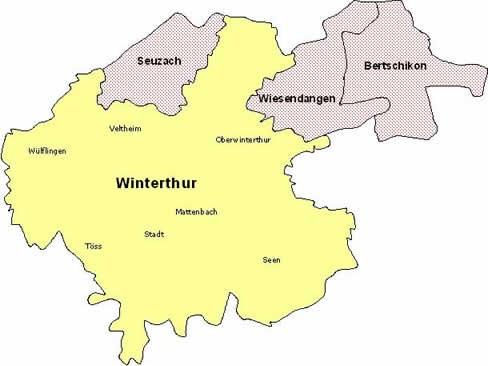 Übersichtskarte ZSO Winterthur und Umgebung