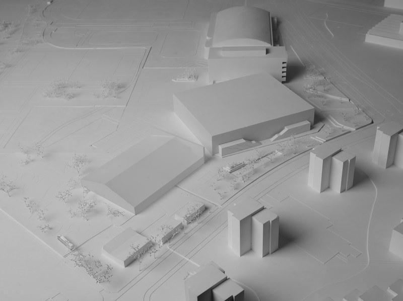 Modell der Trainigshalle
