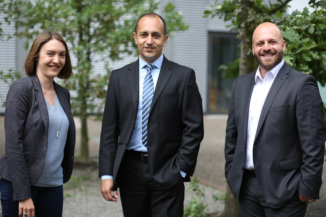 Bild Desirée Fischer, Daniel Bugeda und Fabio Palummo