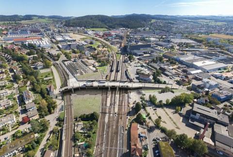 ÖV-Brücke als Kernstück des urbanen Rückgrates in Neuhegi-Grüze