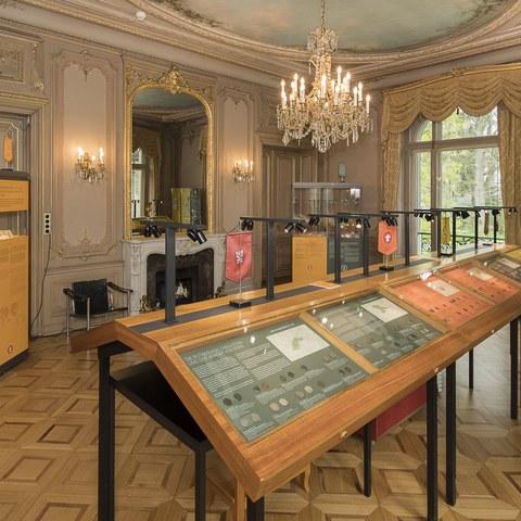 Hinterer Ausstellungsraum. Vergrösserte Ansicht