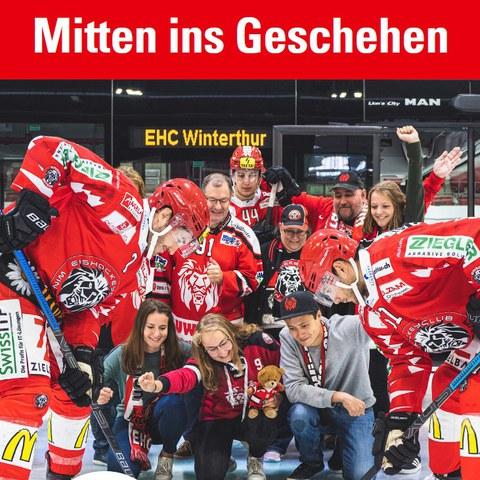 Stadtbus EHC Winterthur Kampagne 1. Vergrösserte Ansicht