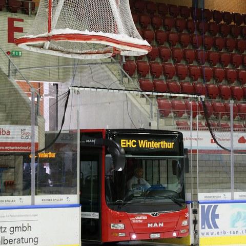 Stadtbus EHC Winterthur Kampagne 3. Vergrösserte Ansicht