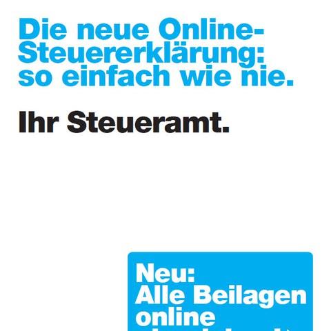 Die neue Online-Steuererklärung. Vergrösserte Ansicht