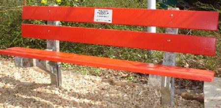Sitzbank rot