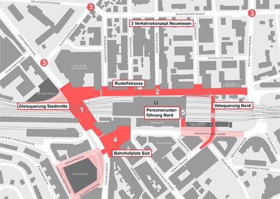 Stadtraum Bahnhof Plan Rahmenkredit